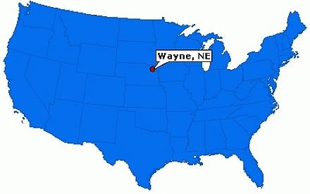 Street, road and tourist map of nebraska. Festa Delle Galline A Wayne Nebraska Usa