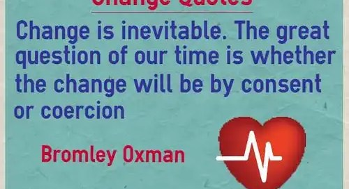 THE INEVITABILITY OF CHANGE