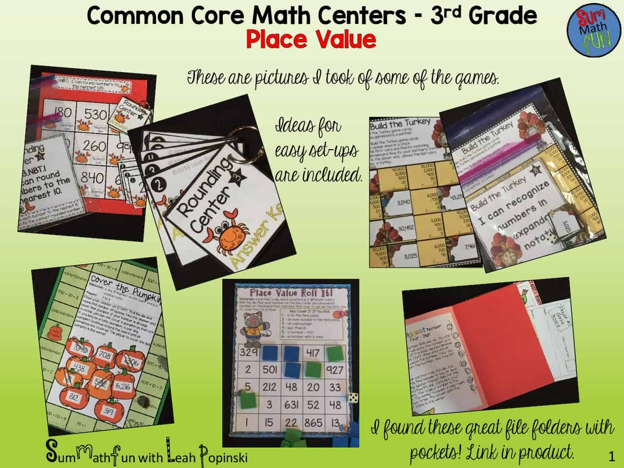 Place Value Activities Third Grade Common Core Centers