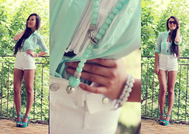 White and mint for Summer