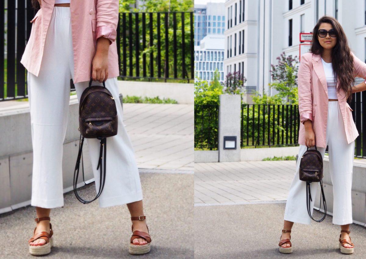 Werbung   Frühlings-Look: weiße Culottes.