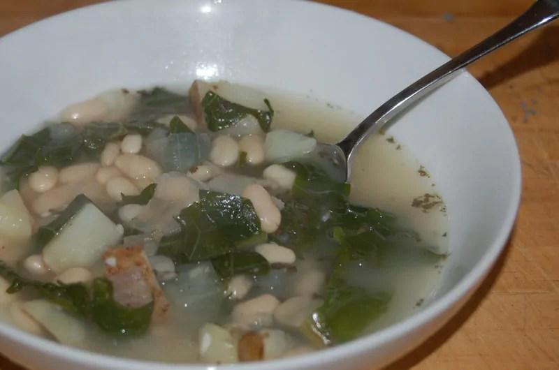Portuguese Navy Bean & Kale soup