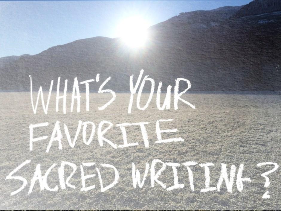 sacred writing