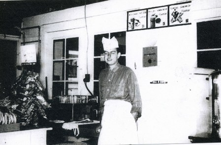 Louis DiFabio in his LAD's Grille & Waffle Shop, circa 1955