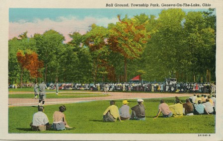 Baseball drew a large crowd to the park in the 1920s.
