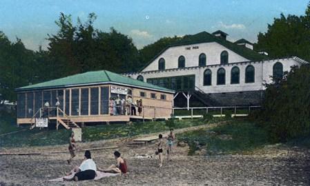 The Pier complex included a bath house on the beach.