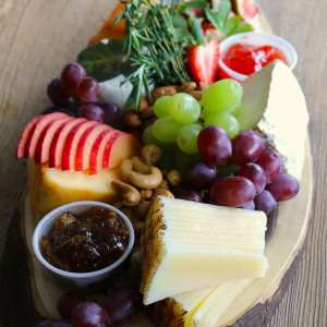 cheese, charcuterie, catering, fruits and nuts