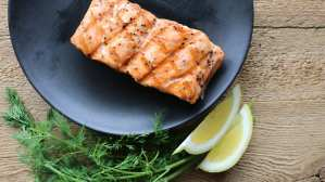 grilled, salmon, lemon, dill, herbs, clean eating, grilled salmon, prepared foods