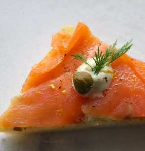 smoked salmon, toast points, remoulade, fish, catering, appetizer