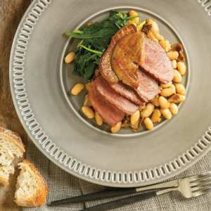 duck, duck confit, white beans, cooking, fresh bread, French cooking
