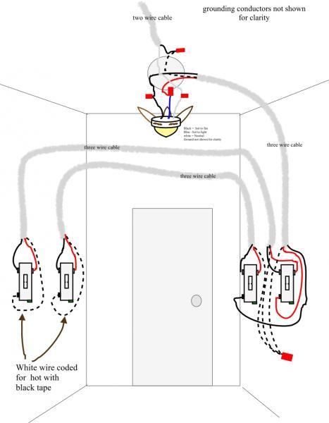 wire a ceiling fan 3way switch diagram