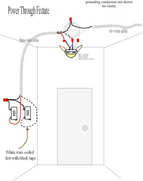 ceiling light switch wiring diagram zone valve honeywell 3 way power to fixture file charleston home inspector explains how wire a three