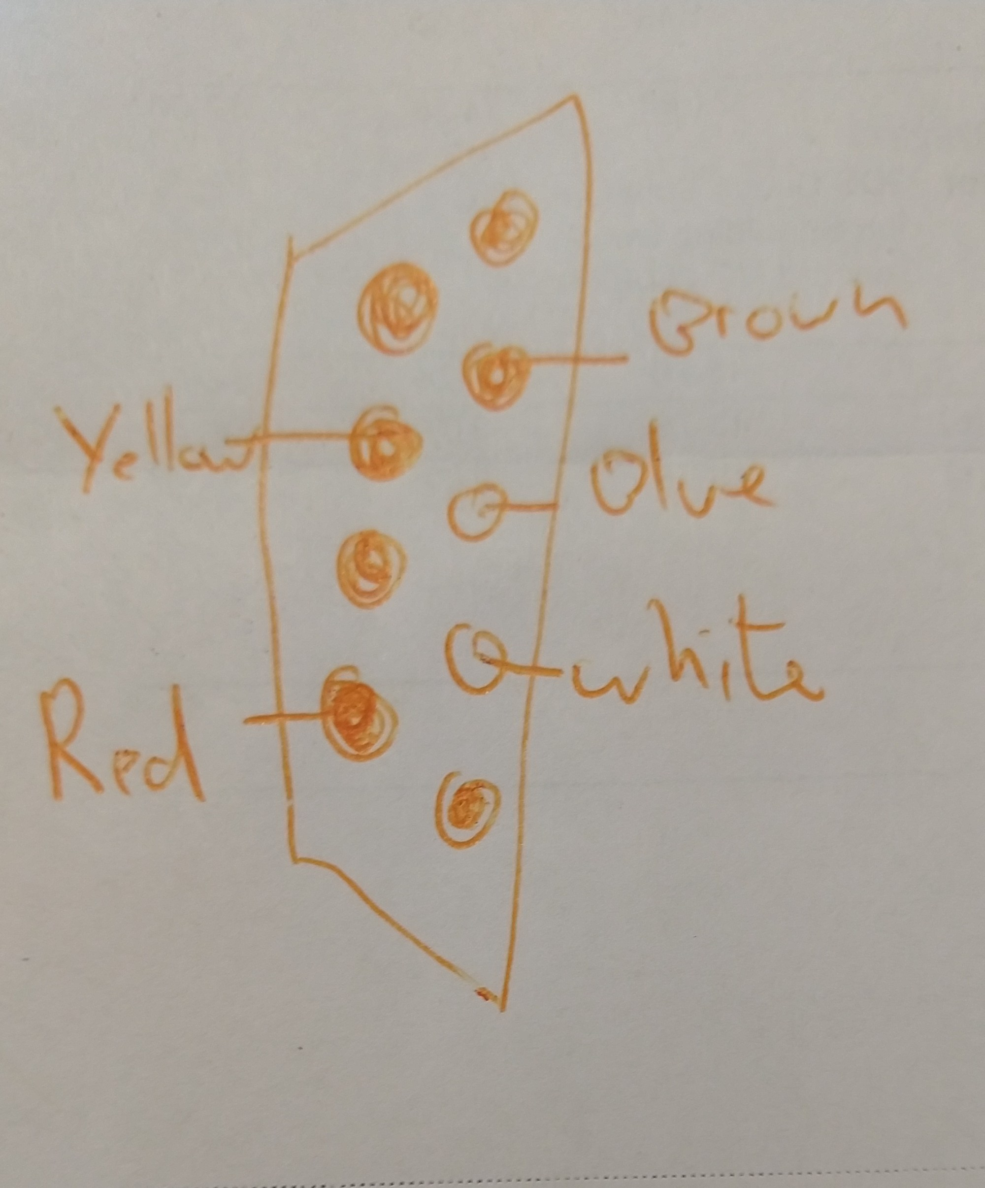 hight resolution of the pinout for the wire colors at the end of the cable is as follows