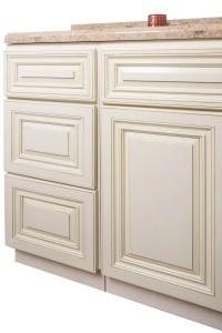 Antique White Bathroom Cabinets Corona | Custom Bathroom ...