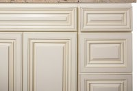 Antique White Bathroom Cabinets Corona | Custom Bathroom ...