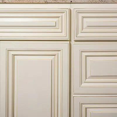 Antique White Bathroom Cabinet