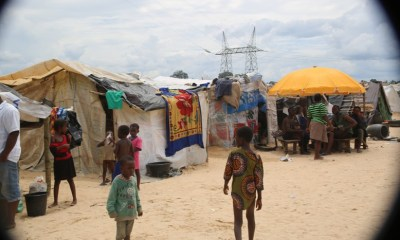 Make Shift IDPs Camp at Power Line by the Bank of River Niger, Delta State