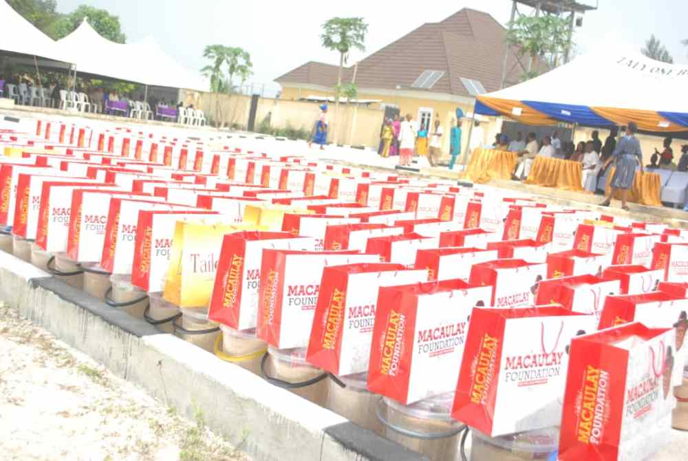 Food and other Gift Items Donated by MACAULAY FOUNDATION to Orphans, Widows and Other Indigent Persons.
