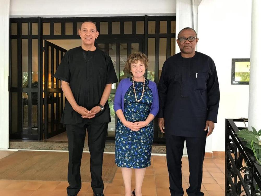 British High Commissioner to Nigeria, Catriona Laing and leaders of the PDP after a secret meeting held in Abuja recently