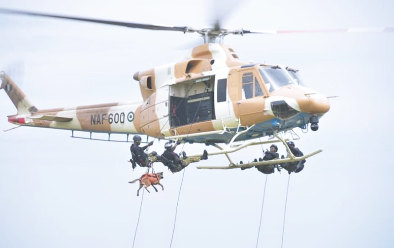 Nigerian Air Force Counter Terrorism (CT) Simulation Exercise along Kaduna-Birnin Gwari Road