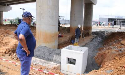 Rivers State Governor, Nyesom Wike Inspecting one of the Flyovers under Construction
