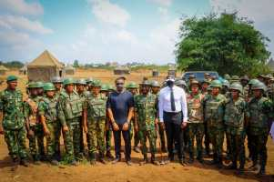 Flag-off of Operation Crocodile Smile 6 by 63 Brigade, Nigerian Army Asaba on Tuesday, November 17, 2020