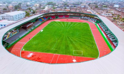 Aerial view of Samuel Ogbemudia Stadium, Benin City.