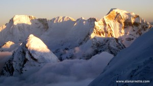 View from Camp 3 on Lhotse Face