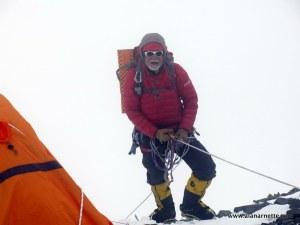 Alan at K2 Camp 2 - 22,000'