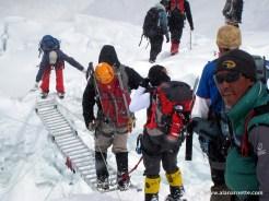 Ladders in Khumbu Icefall