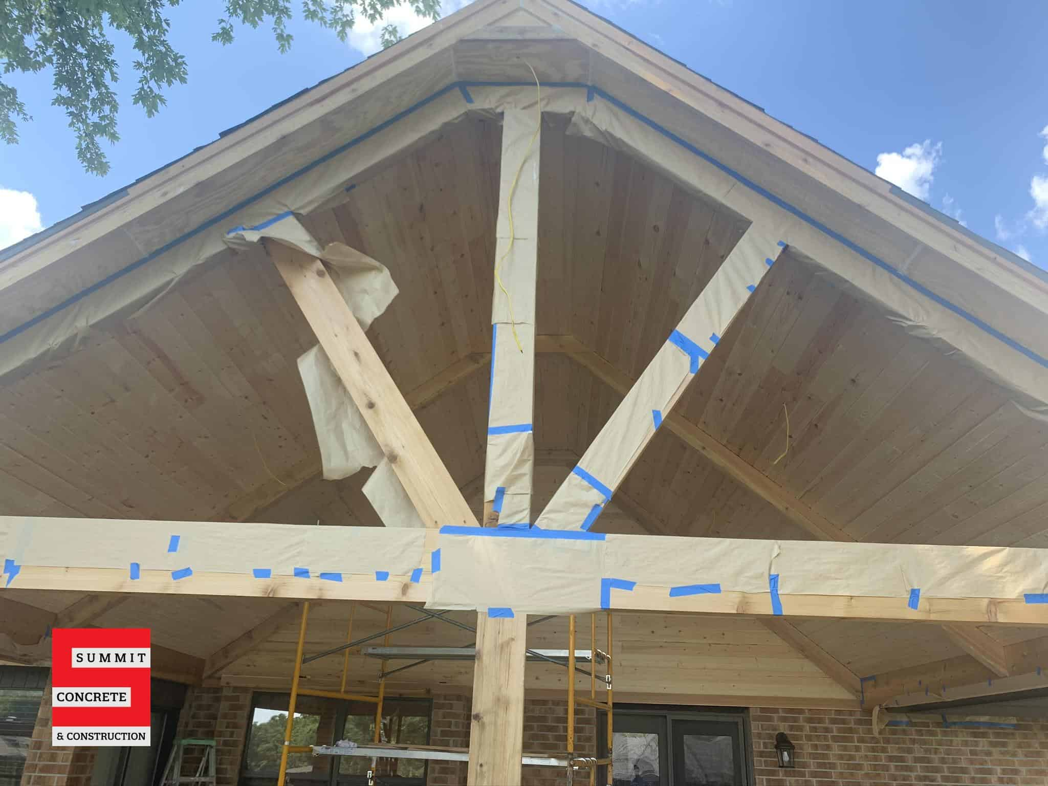 Custom Cedar Patio with Cathedral Ceiling Ponca City OK Summer 2020 10