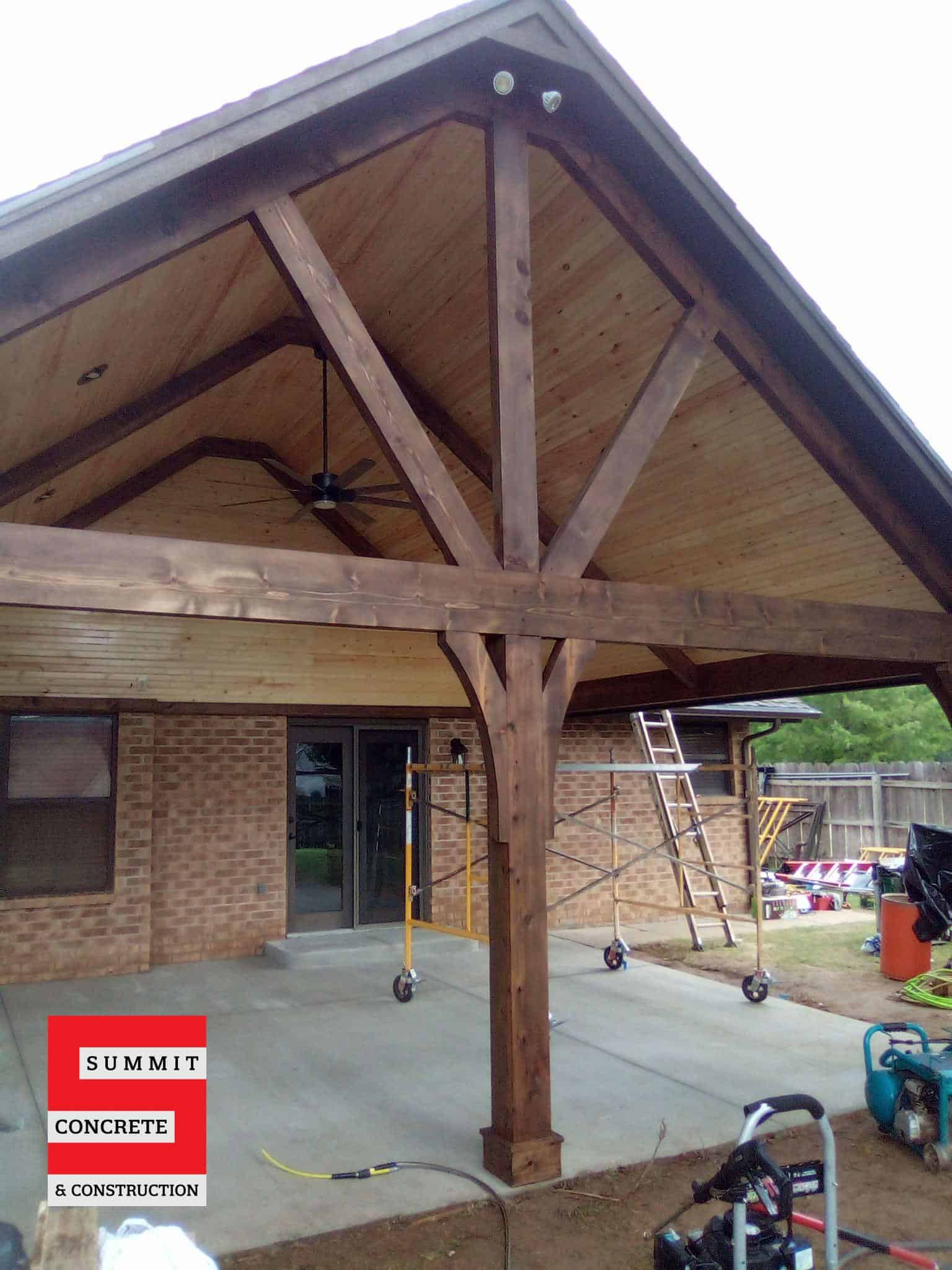 Custom Cedar Patio with Cathedral Ceiling Ponca City OK Summer 2020 13