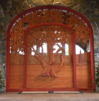 Carved Door & Custom CARVED WOOD DOOR With Buck And Doe ...