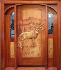 Hand Carved Wooden Doors | Summit Log & Timber Homes
