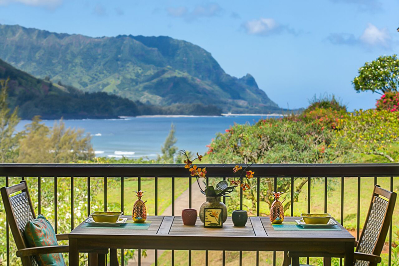 tell city chairs pattern 4222 the chair salon and spa hanalei bay resort view of bali hai from balcony lanai