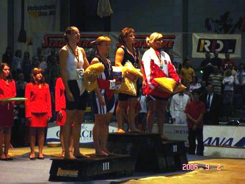 Paola Boz sul podio