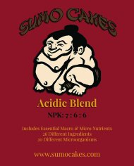 Sumo Cakes® Acidic Blend Front Label