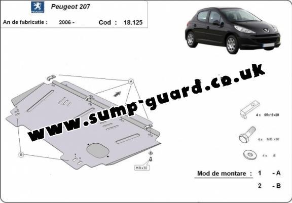 Peugeot Steel Engine Sump Guard