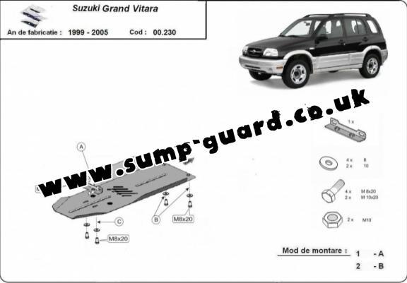 Suzuki Grand Vitara Steel Engine Sump Guard