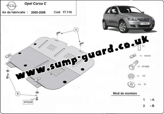 Vauxhall Corsa Steel Engine Sump Guard