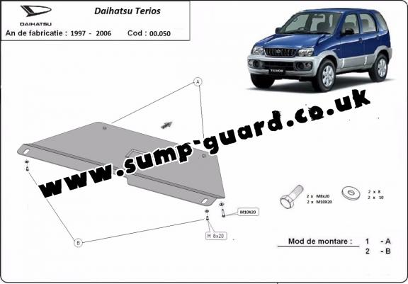 Steel gearbox guard for Daihatsu Terios
