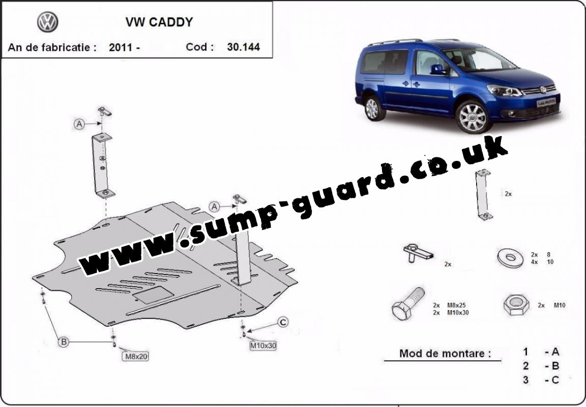 Steel sump guard forVW Caddy