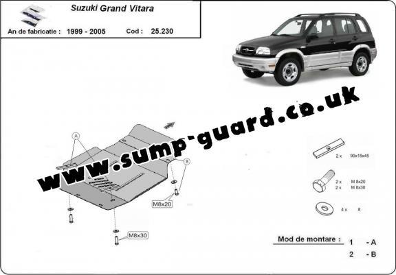 Suzuki Steel Engine Sump Guard