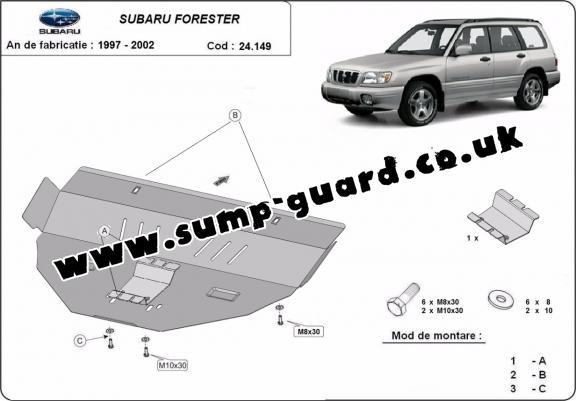Subaru Steel Engine Sump Guard