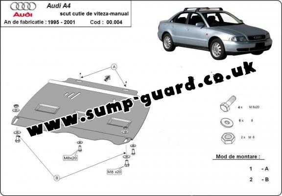 Steel manual gearbox guard Audi A4 1