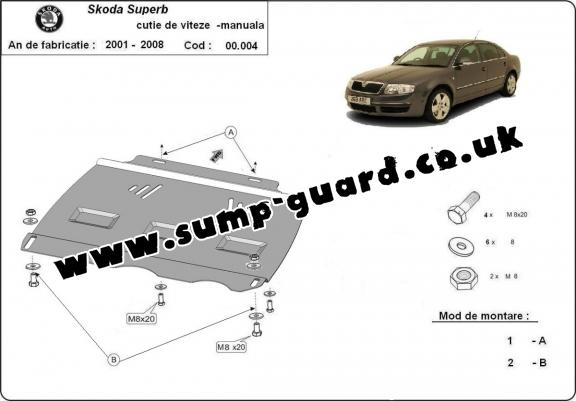 Skoda Steel Engine Sump Guard