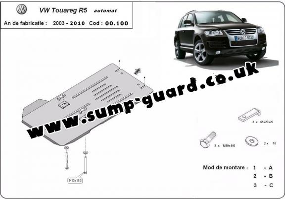 Steel automatic gearbox guard for Volkswagen Touareg R5