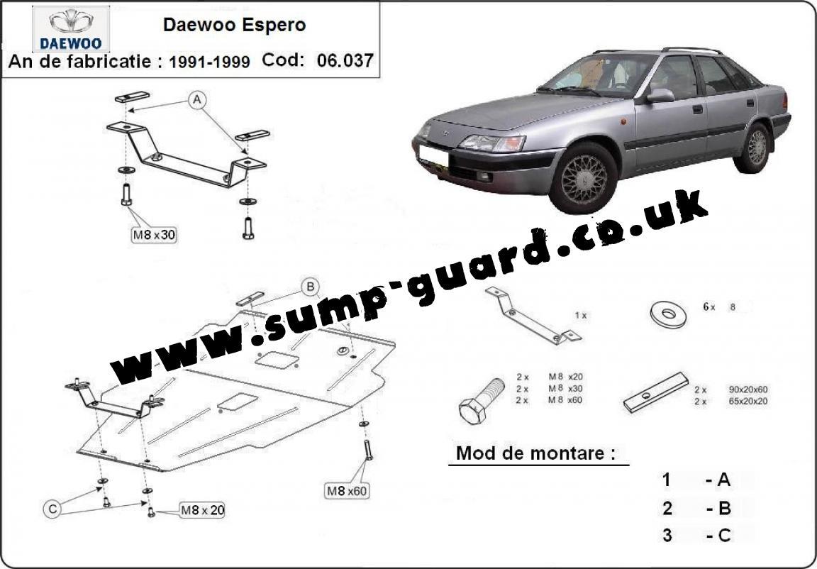 hight resolution of steel sump guard for daewoo espero daewoo espero engine diagram