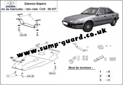 small resolution of steel sump guard for daewoo espero daewoo espero engine diagram