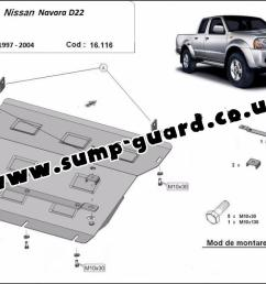steel sump guard for the protection of the engine and the radiator for nissan navara d22 [ 1152 x 797 Pixel ]